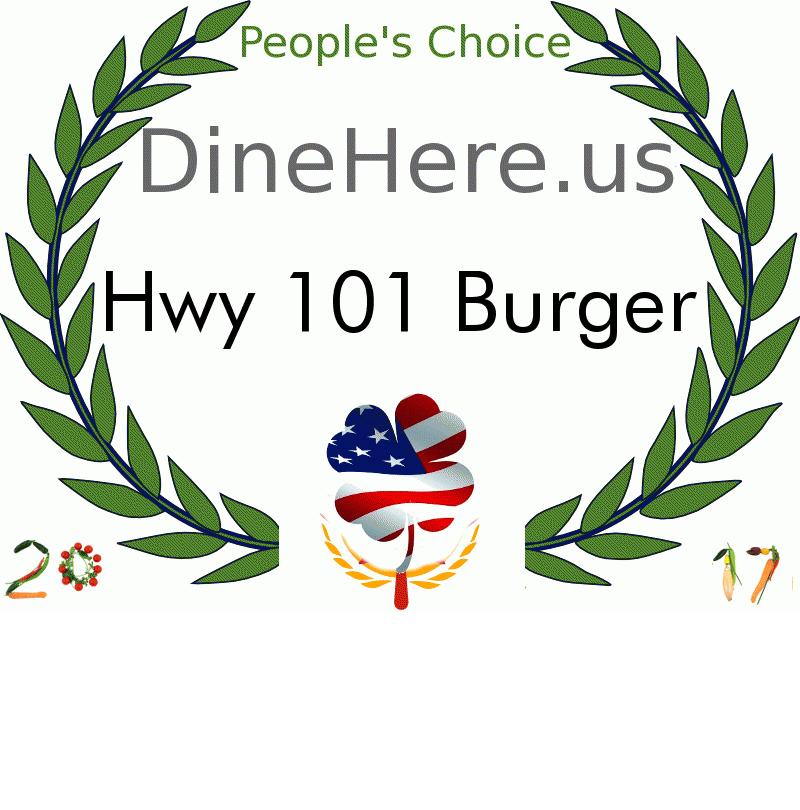 Hwy 101 Burger DineHere.us 2017 Award Winner